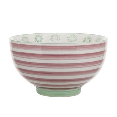 Bloomingville Patrizia 13cm Bowl - Pink Stripe