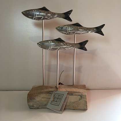 Archipelago Herring Block Wooden Sculpture