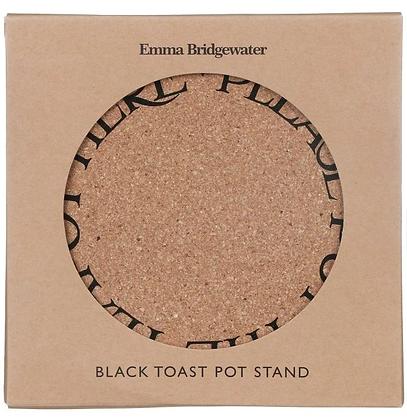 Emma Bridewater Cork Pot Stand- Black Toast