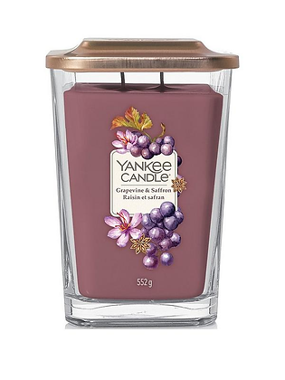 Yankee Candle Elevation 2 Wick Candle - Grapevine and Saffron