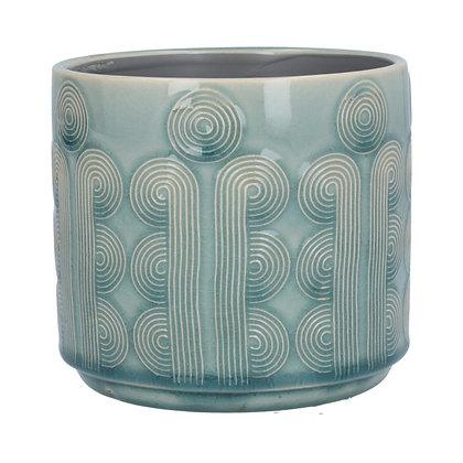 Gisela Graham Blue Circles Small Pot Cover