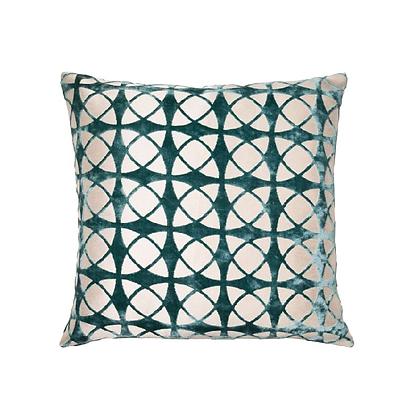 Malini Spiral Feather Cushion - Teal