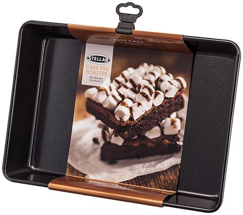 "Stellar Cake Tin Roaster 13 x 9"" with label"
