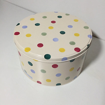 Elite Tins Emma Bridgewater Polka Dot Medium Round Cake Tin