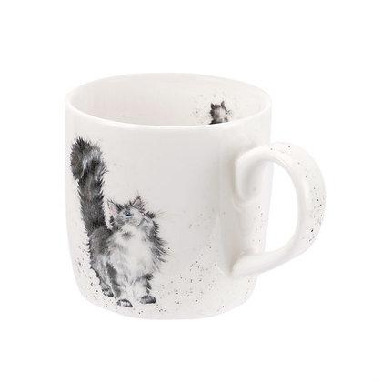 Royal Worcester Wrendale 'Lady of the House' Cat Fine Bone China Mug