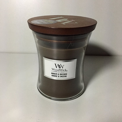 Woodwick Medium Candle - Amber and Incense