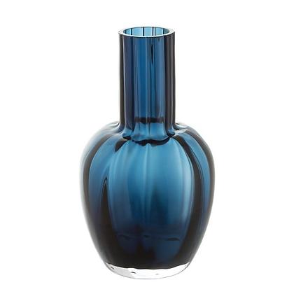 Dartington Crystal Little Treasures Vase - Ink Blue