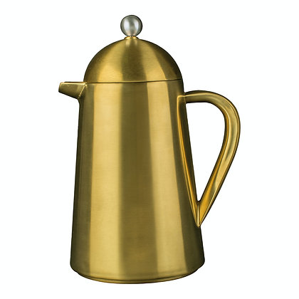 La Cafetiere Edited Thermique Double Walled 8 Cup Cafetiere -Brushed Gold