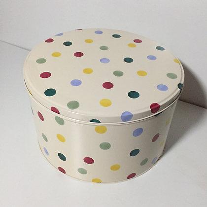 Elite Tins Emma Bridgewater Polka Dot Large Round Cake Tin