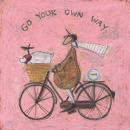 Canvas Art - Sam Toft 'Go Your Own Way'