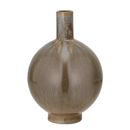 Bloomingville Brown Round Long Necked Vase