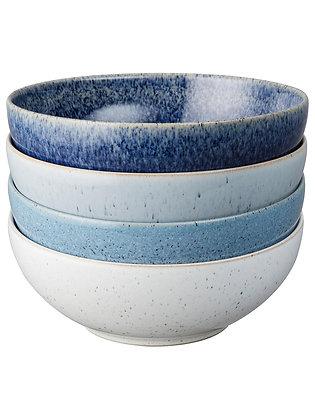 Denby Studio Blue Cereal Bowls set x4