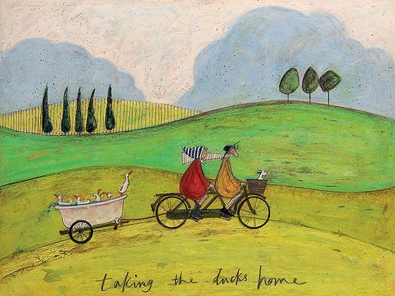 Canvas Art - Sam Toft 'Taking The Ducks Home'