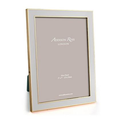 Addison Ross 5x7 Photo Frame - Chiffon Enamel & Gold Plate