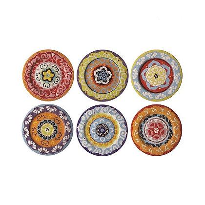 Rose & Tulipani Nador Set of 6 Dinner Plates