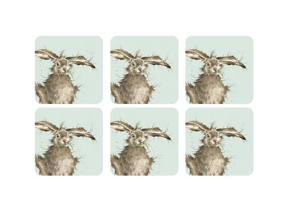 Pimpernel Wrendale Designs Set of 6 Hare Coasters