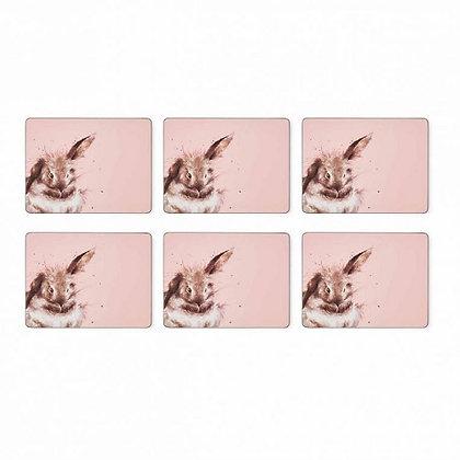 Pimpernel Wrendale Designs Set of 6 Rabbit Placemats