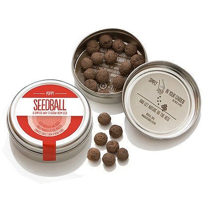 Seedball Tin - Poppy Mix