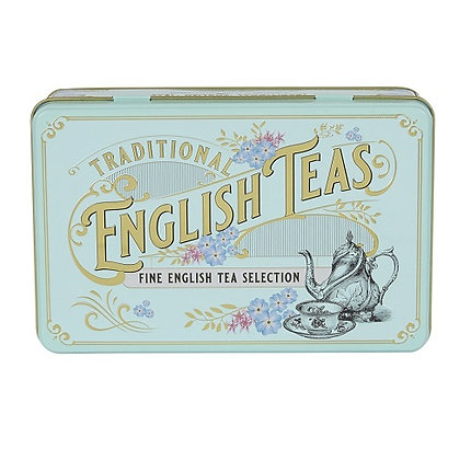 New English  Vintage Victorian Tea Tin 72 Bag