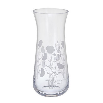 Dartington Crystal Bloom Poppy Small Vase