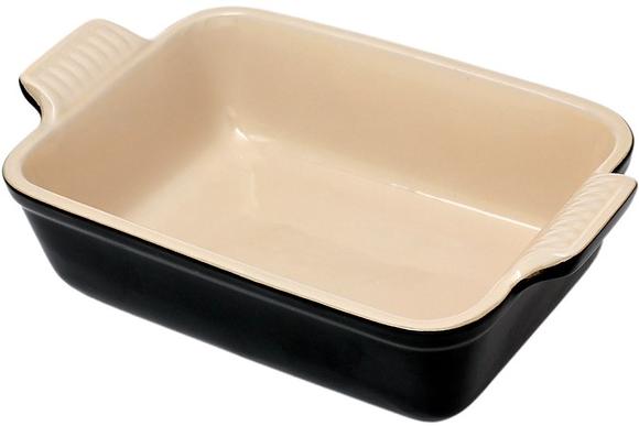 Le Creuset 19cm Stoneware Rectangular Dish - Matt Black