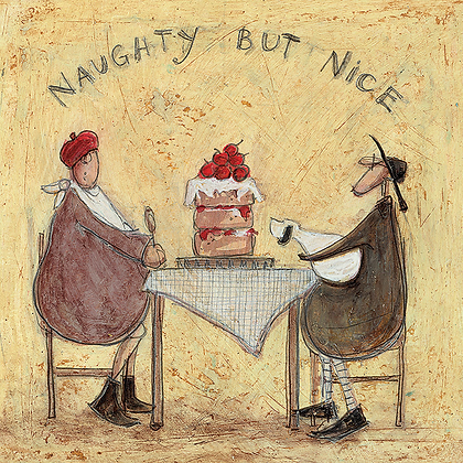 Canvas Art - Sam Toft 'Naughty But Nice'