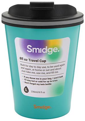 Smidge 236ml Insulated Travel Cup-Aqua
