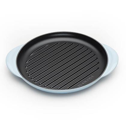 Le Creuset Cast Iron Round Grill - Coastal Blue