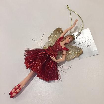 Gisela Graham Decoration - Red Fairy Princess