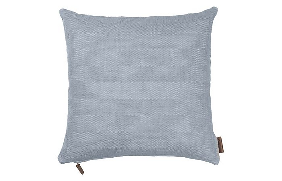 Feather Filled Hand Woven Cotton Cushion-Dusty Blue