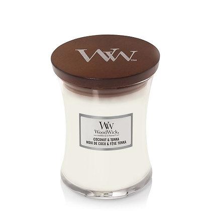 Woodwick Medium Candle - Coconut & Tonka