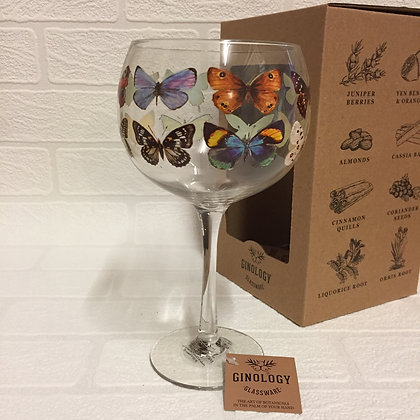 Ginology Gin Copa Glass - Butterflies