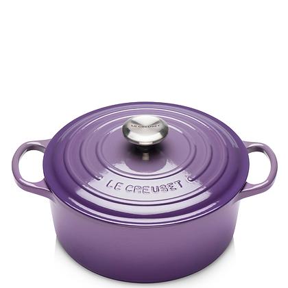 Le Creuset 20cm Cast Iron Round Casserole - Violet