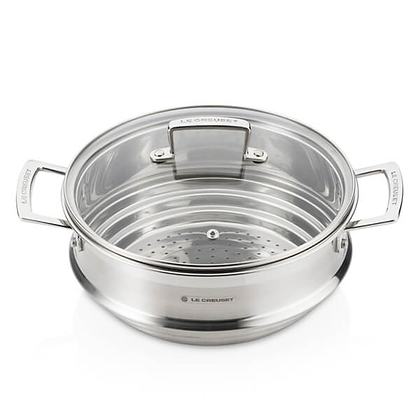 Le Creuset 3-Ply 24cm Multi- Steamer with a Glass Lid
