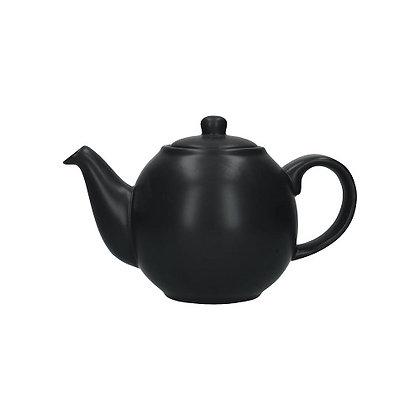 London Pottery 4 Cup Globe Teapot - Matt Black