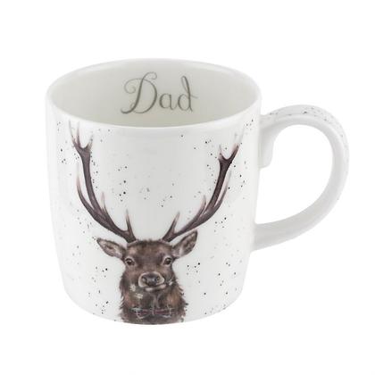 Royal Worcester Wrendale 'Dad' Stag Large Fine Bone China Mug