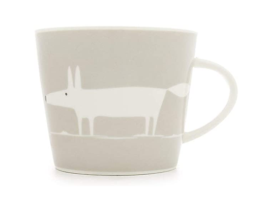 Scion Living Mr Fox Mug - Light Grey