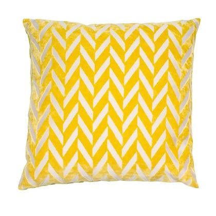 Malini Jaz Feather Cushion - Mustard