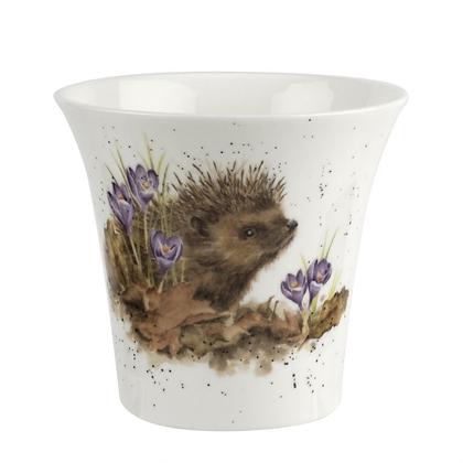 Royal Worcester Wrendale Flowerpot - Hedgehog