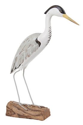 Archipelago Heron Standing Wooden Sculpture