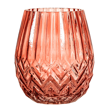 Bloomingville Coral Deco Glass Vase