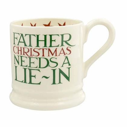 Emma Bridgewater Santa Needs a Lie In Half Pint Mug
