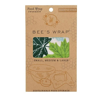 Eddingtons Bee's Wrap Wax Food Wrap - Forest Floor Pack of 3