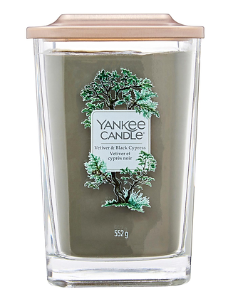 Yankee Candle Elevation 2 Wick Candle - Vetiver and Black Cypress