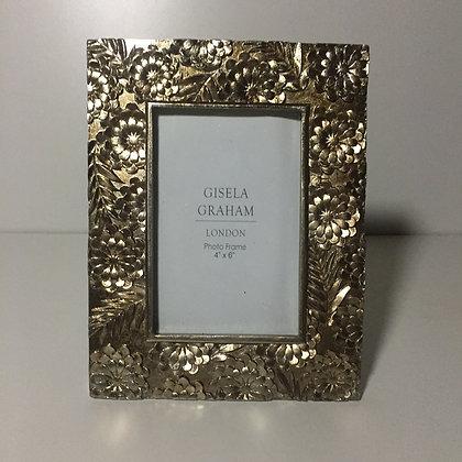 Gisela Graham Gold Floral Frame 4 x 6