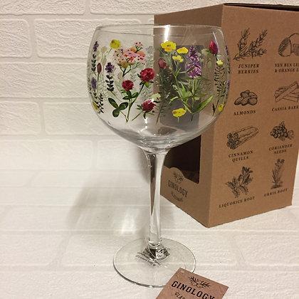 Ginology Gin Copa Glass - Flowers