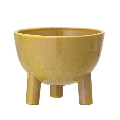 Bloomingville Yellow Stoneware Flowerpot