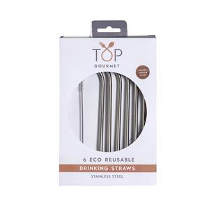 Eddingtons 6 Eco Stainless Steel Straws