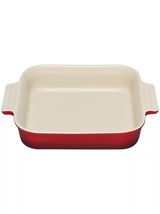 Le Creuset 23cm Stoneware Square Dish - Cerise