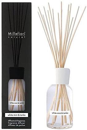 Millefiori Milano Natural 100ml Diffuser - White Mint and Tonka